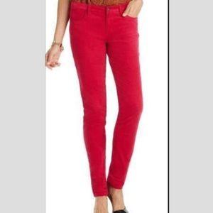 A.N.A. Cute Bright Pink Skinny Corduroy Pants